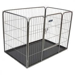 Heavy Duty Premium Pet Play Pen With Floor - pawsandtails.pet