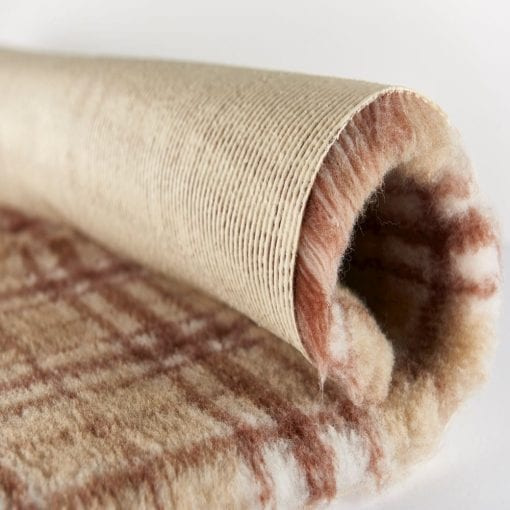 Bronte-glen-active-nonslip-vet-bedding-detail-autumn-plaid - pawsandtails.pet