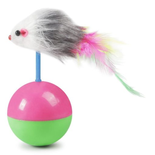 Feather Mouse Ball - pawsandtails.pet