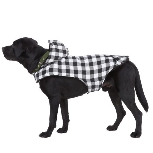 Black & White Coat With Hood - pawsandtails.pet