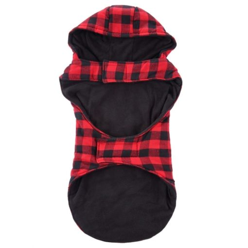 Red & Black Coat With Hood - pawsandtails.pet