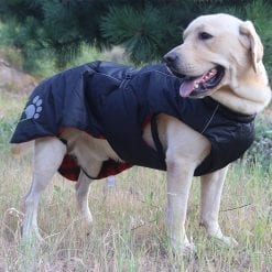 Deluxe Heavy Black Coat - pawsandtails.pet