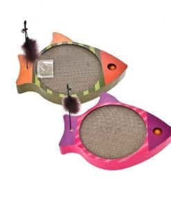 Corrugated Scratching Board – Fish - pawsandtails.pet