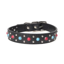 Collar With Red & Blue Gemstones - pawsandtails.pet