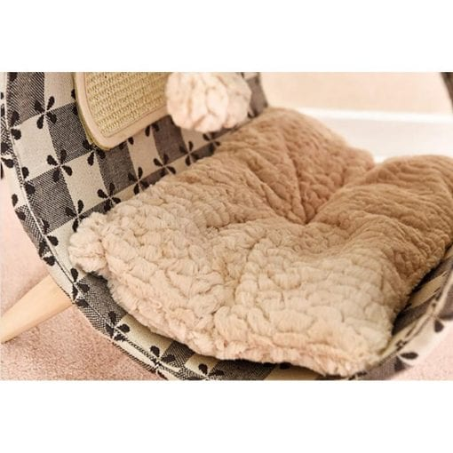 Raised Tube Bed With Check Pattern - pawsandtails.pet