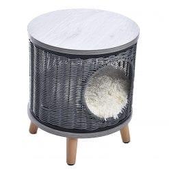 Grey Raised Basket Bed - pawsandtails.pet