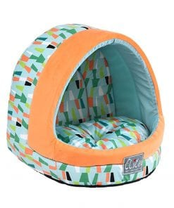 Green Covered Retro Bed - pawsandtails.pet