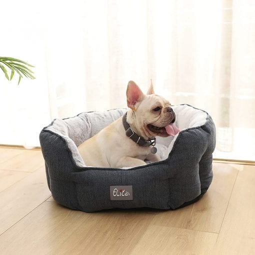 Blue & Grey Round Bed - pawsandtails.pet