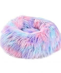 Pink Unicorn Round Bed - pawsandtails.pet