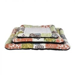 Grey Cushion With Floral Pattern - pawsandtails.pet