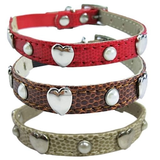 Collar With Hearts - pawsandtails.pet