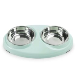 Double Food & Water Stainless Steel Bowls - pawsandtails.pet