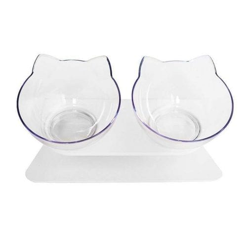 Cat Dog Double Bowls With Raised Stand - pawsandtails.pet