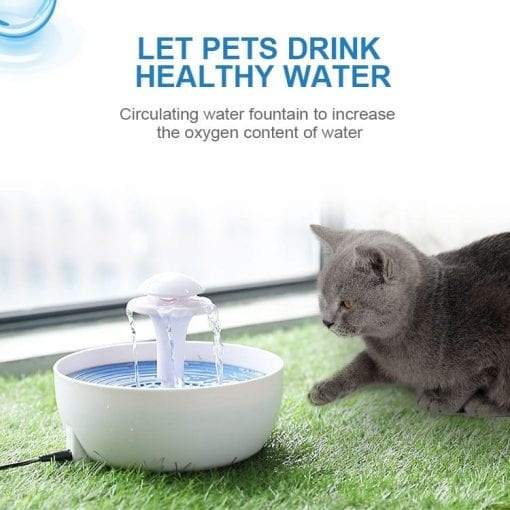 2l Automatic Mains-powered Filtered Water Drinking Fountain - pawsandtails.pet