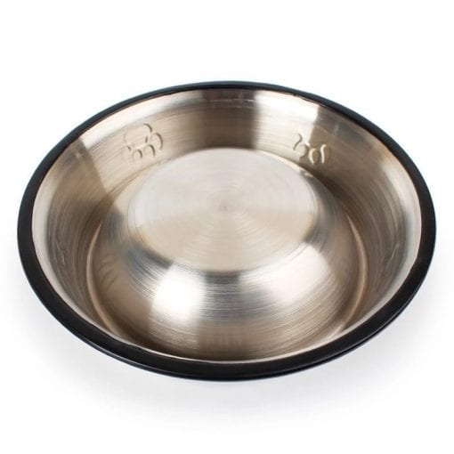Stainless Steel Food Or Water Bowl – Non-slip - pawsandtails.pet