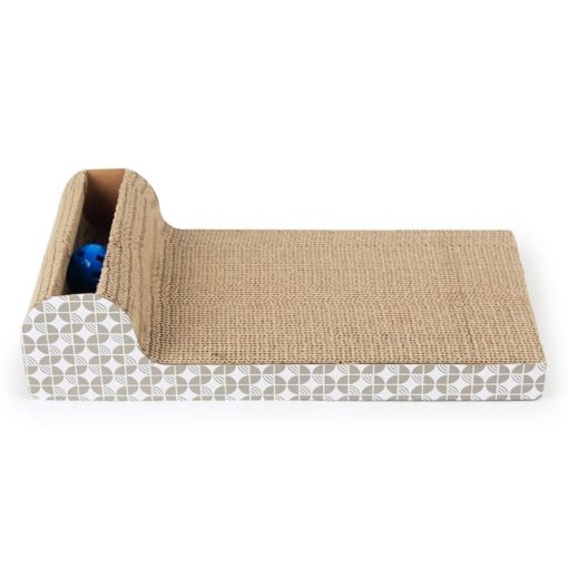Corrugated Scratching Board – Ball Toy - pawsandtails.pet