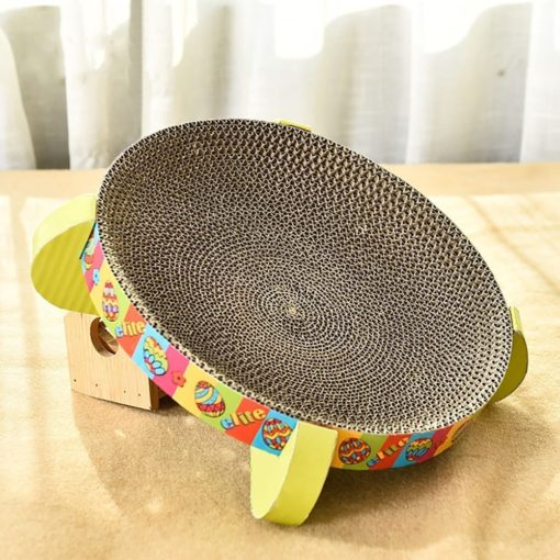 Corrugated Scratching Board – Bowl - pawsandtails.pet
