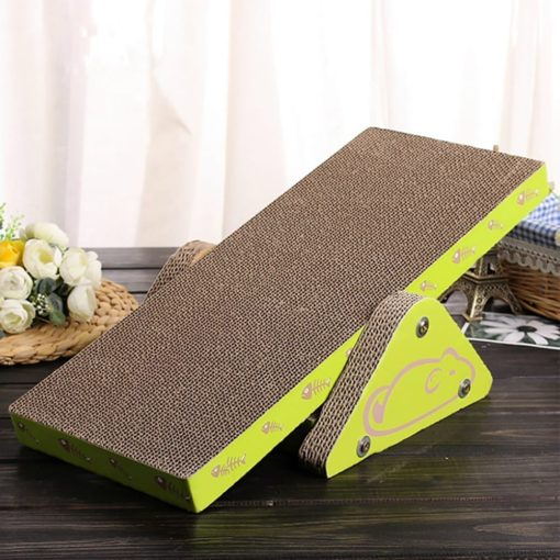 Corrugated Scratching Board – See-saw - pawsandtails.pet