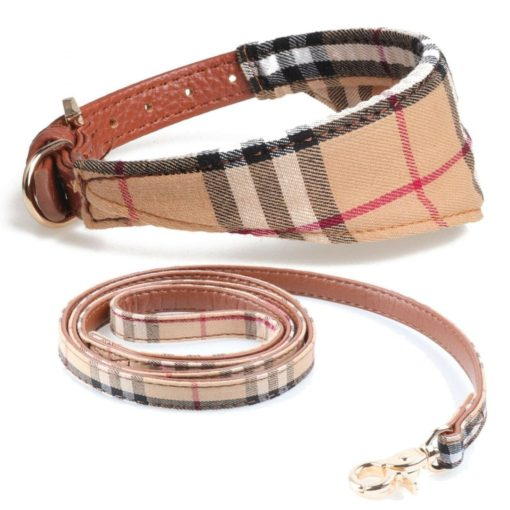 Dog Cat Small Bandanna Collar Adjustable Neckerchief Includes The Lead - pawsandtails.pet
