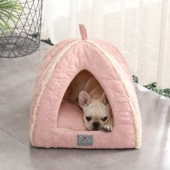 Pink Covered Bed - pawsandtails.pet