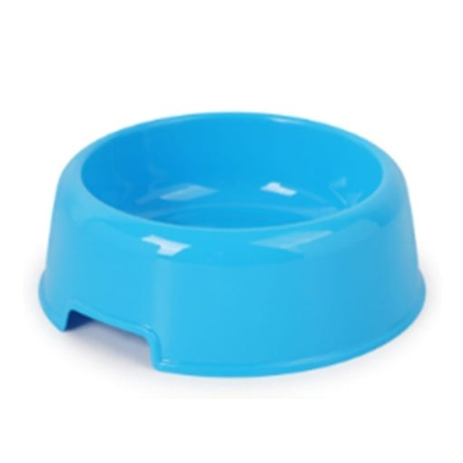Colourful Pet Dog Cat Bowl Feeding Drinking Plastic Dish Feeder - pawsandtails.pet