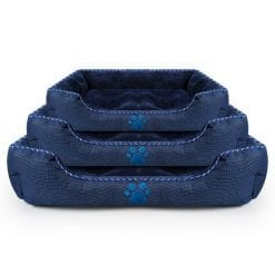 Soft and Simple Blue Pet Bed – 3 Sizes - pawsandtails.pet