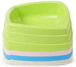 Pet Dog Cat Bowl Tray Feeding Drinking Plastic Dish Feeder – Blue - pawsandtails.pet