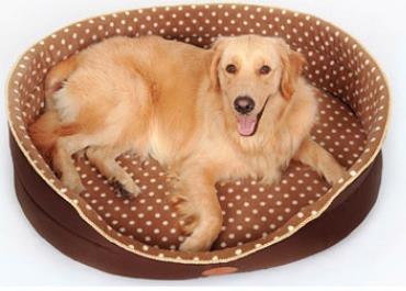 Soft Brown Orthopedic Pet Dog Cat Bed - pawsandtails.pet