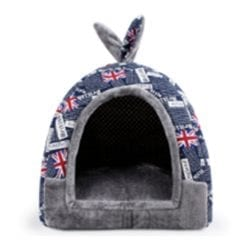 UK Pattern Tent Style Pet Bed - pawsandtails.pet