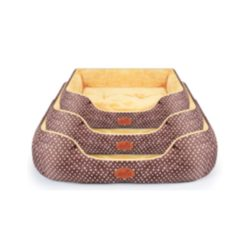 Polka Dot Pattern Soft and Simple Pet Bed – 3 Sizes - pawsandtails.pet