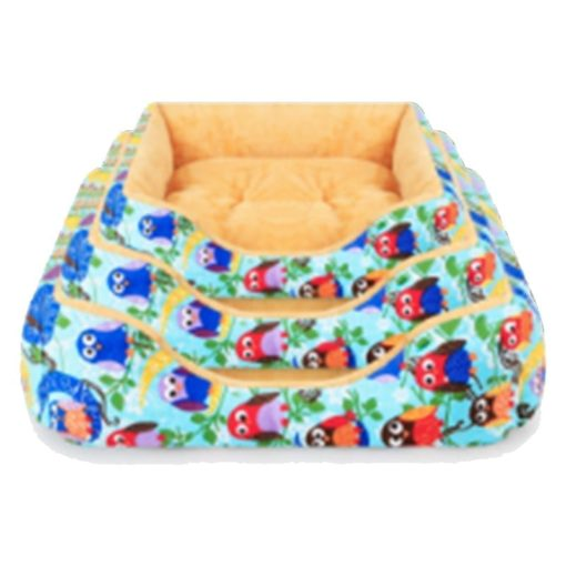 Bird Pattern Soft and Simple Pet Bed – Day or Night Style – 3 Sizes - pawsandtails.pet