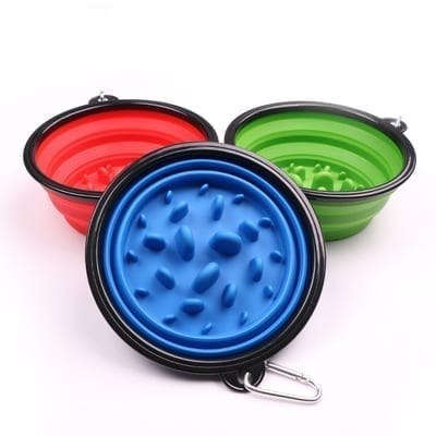 Collapsible Slow Feed Bowl – Available in 9 Colours - pawsandtails.pet