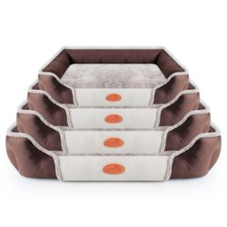 Brown & White Simple Breathable Pet Bed - pawsandtails.pet