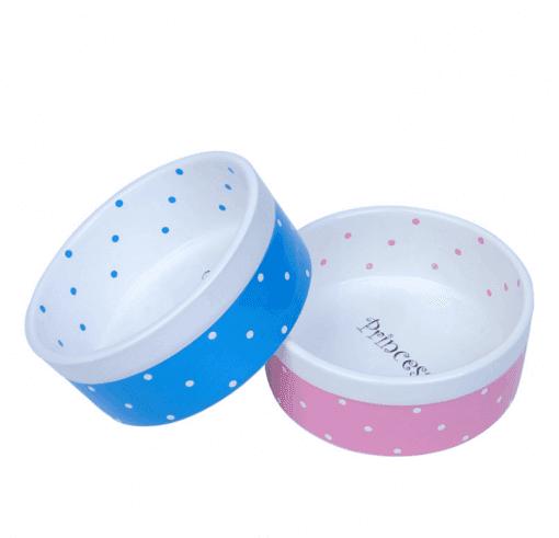 Prince or Princess Ceramic Pet Bowl for Dog or Cat - pawsandtails.pet