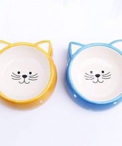Ceramic Cat Face Pet Bowl – Food or Water Bowl - pawsandtails.pet