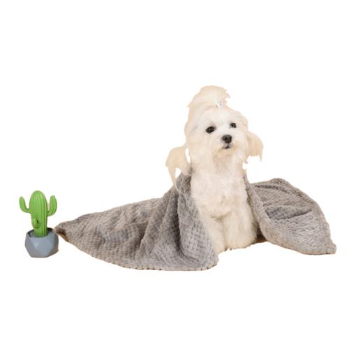 soft pet blanket - Stone Grey