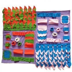 Snuffle Mat interactive dog toy Pink, Blue & Purple
