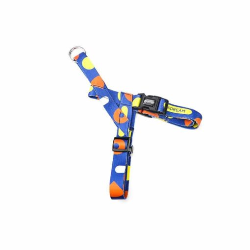 Blue Spotted dog Harness