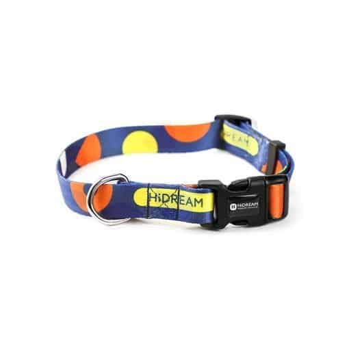 Blue Spotted Dog Collar