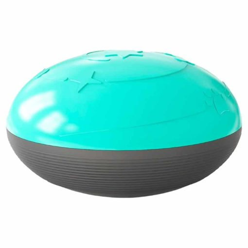 Dog Toy Squeaky Food Treat Dispenser Ball BLUE